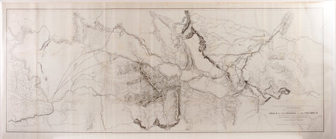 Governor Stevens Map of the Proposed Northern Route of the Transcontinental Railroad