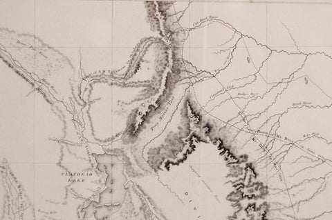 Governor Stevens Map of the Proposed Northern Route of the