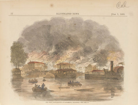 The Great Conflagration at Sacramento, California