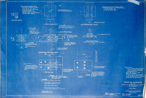 Golden gate bridge blueprints arader galleries traveling scaffold sheet number unknown malvernweather Image collections