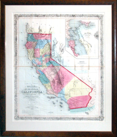 "William M. Eddy ""Approved and Declared to be the Official Map of the State of California by an Act of the Legislature Passed March 25th 1853."""