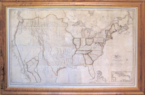 First Map of the United States to show Manifest Destiny