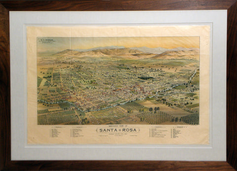 Birdseye View of Santa Rosa, Sonoma County, Cal. 1897