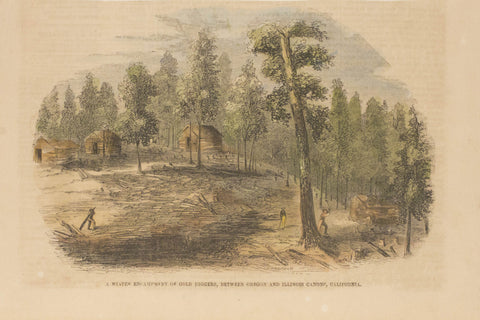 A Winter Encampment of Gold Diggers, Between Oregon and Illinois Canons, California