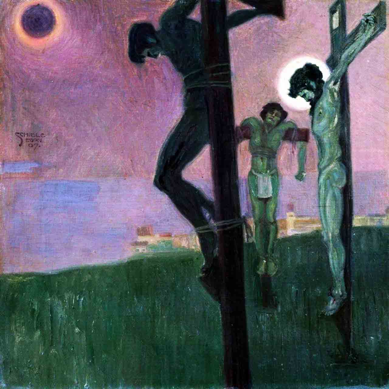 Painting Of The Eclipse And Crucifixion