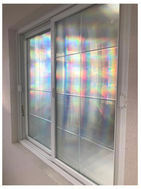 How to Apply a Decorative Window Film | Rainbow Symphony Blog