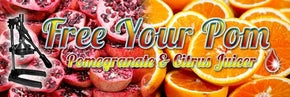 free your pom pomegranate juicer header