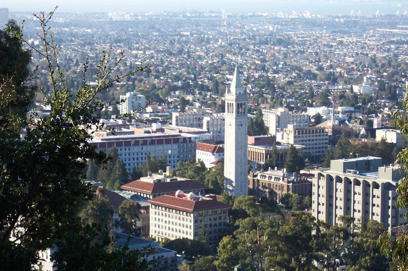 Berkeley campus overview from hills