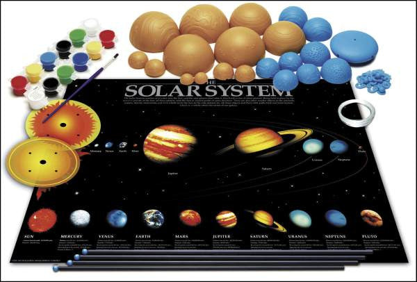 Build your own 29 5in glow-in-the-dark solar system mobile!