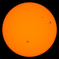 image of the sun through solar filter