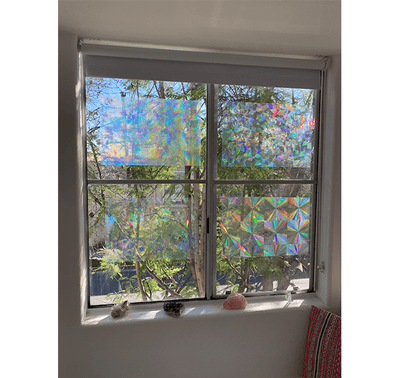 "Decorative Window Film - Holographic Window Film - 12"" X 18"" Panel - Assorted Films"