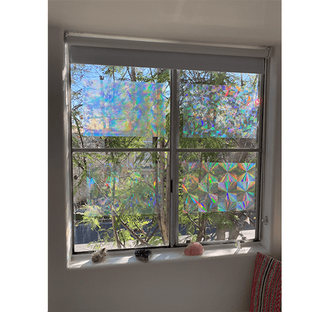 "Decorative Window Film - Holographic Window Film - 12"" X 17"" Panel - Assorted Films"