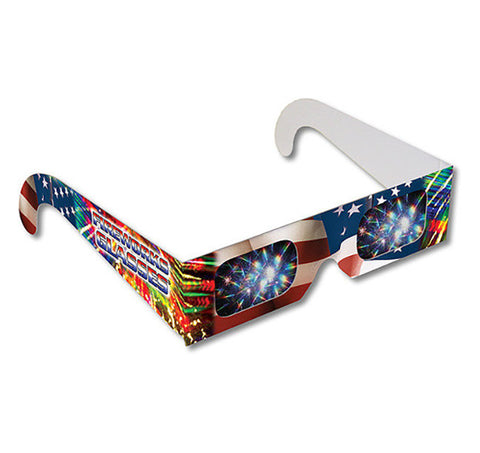 American Flag Fireworks Glasses