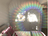 "Decorative Window Film | Holographic Film - 24"" X 36"" Panel - Radial Axicon Pattern"