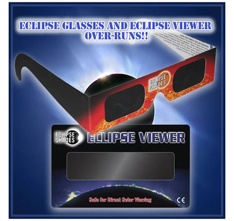 eclipse glasses overruns