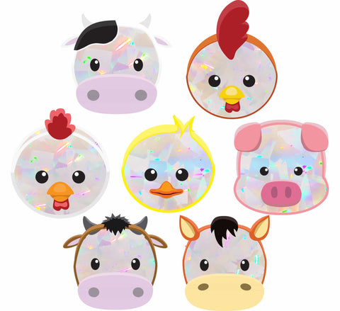 Baby Farm Animals | Rainbow Decals