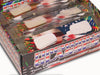 american flag fireworks glasses retail display detail