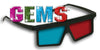 GEMS™ Red / Cyan Plastic 3D Glasses - 4 Pair Anaglyph 3D Glasses