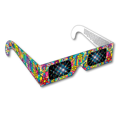 groovy 60's diffraction glasses