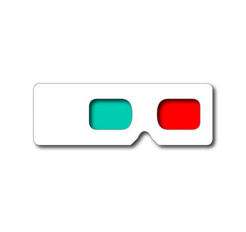 Large Hand Held 3D Glasses