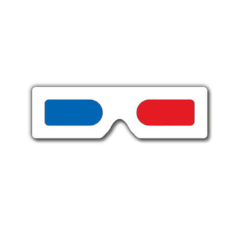 mini hand held 3d glasses