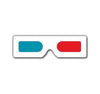 mini hand held 3d glasses - red/cyan