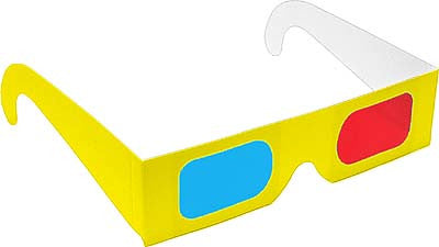 Assorted Neon 3D Glasses - Red and Cyan