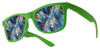 plastic diffraction glasses green