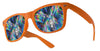 plastic diffraction glasses orange