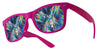 plastic diffraction glasses pink
