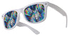 plastic diffraction glasses white