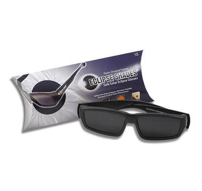 "Plastic Eclipse Glasses - Eclipse Shades® - Comes with 2 Free Pair of our Paper Eclipse Glasses! As we always say ""Make a Friend!"""