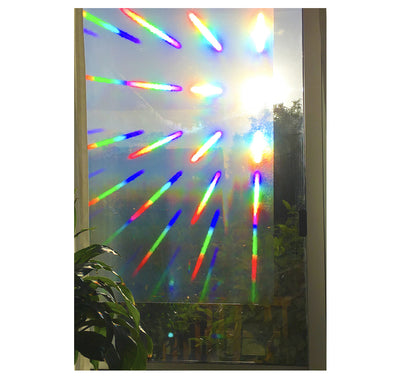 "Decorative Window Film | Holographic Film - 23"" X 36"" Panel - Spectra Star Pattern"