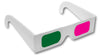 magenta green 3d glasses