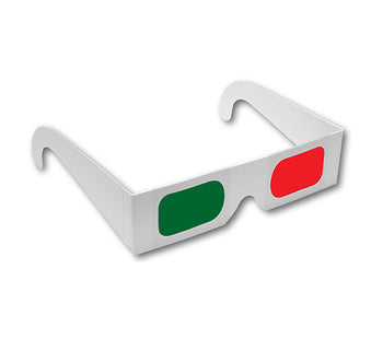 3D Glasses Red and Green - Rainbow Symphony