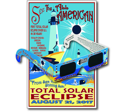 Eclipse Glasses - Sea to Shining Sea Commemorative Glasses & Poster
