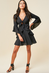 Bell Sleeve Ruffle Mini Dress