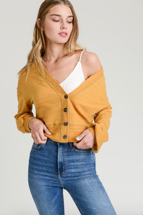 Effortless Crop Cardigan