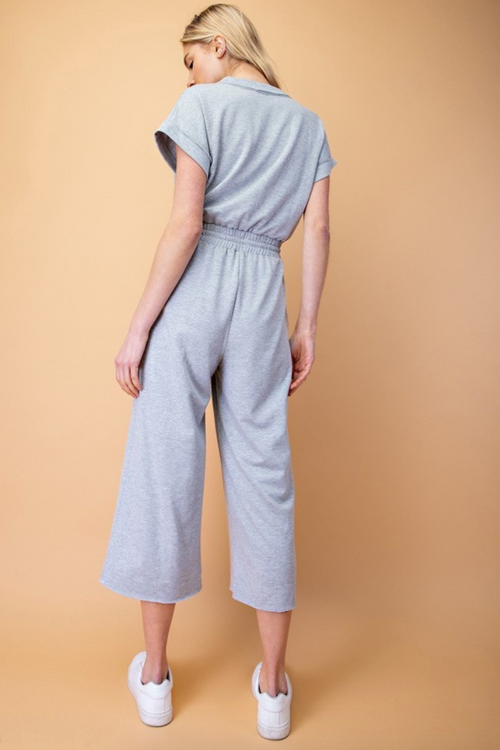 Front Cross Jersey Jumpsuit