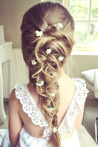 flower girl hairstyles fleur and lace boutique