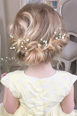 flower girls hairstyle fleur and lace boutique