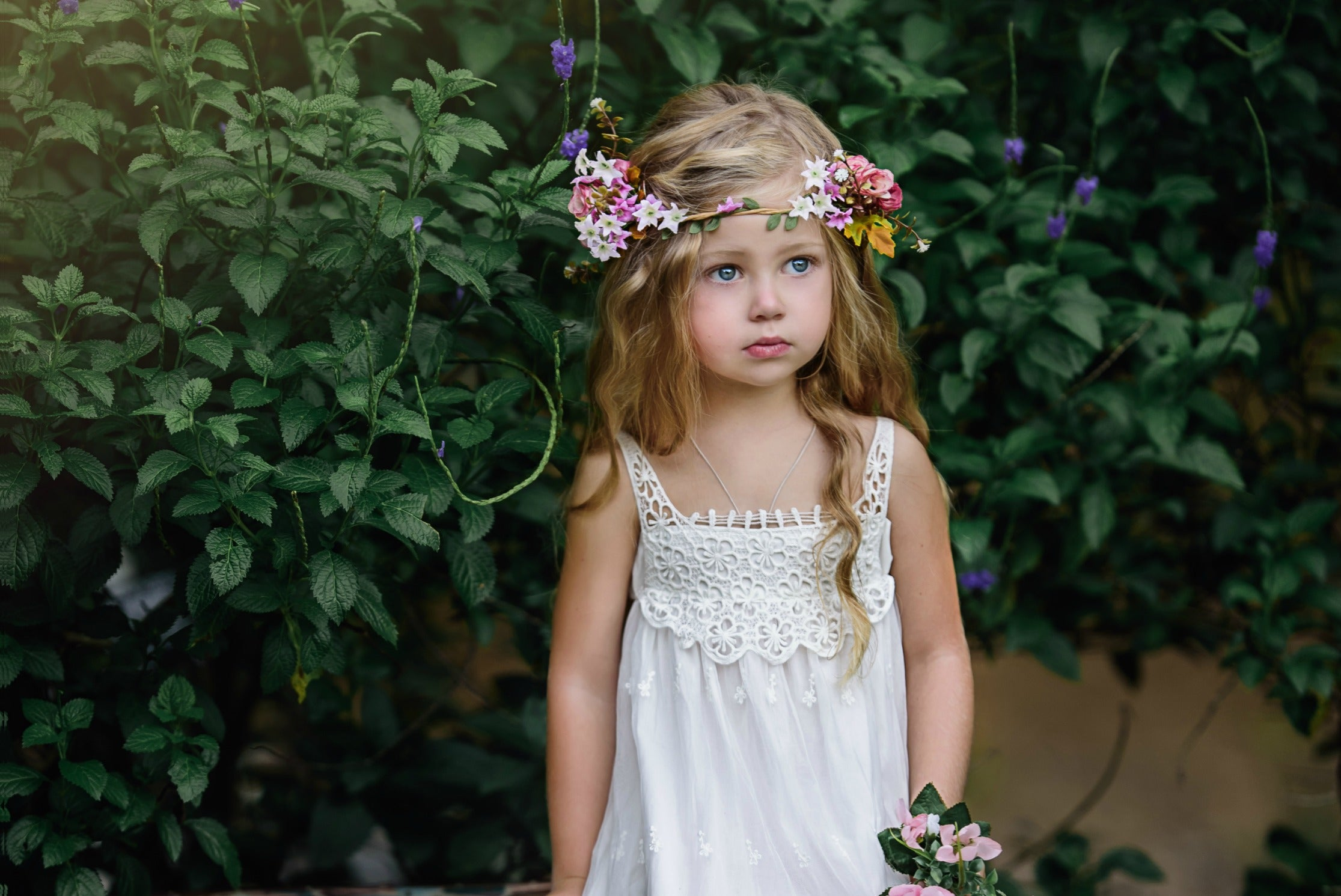 Silk flower crown fleur and lace boutique silk flower crown izmirmasajfo Image collections