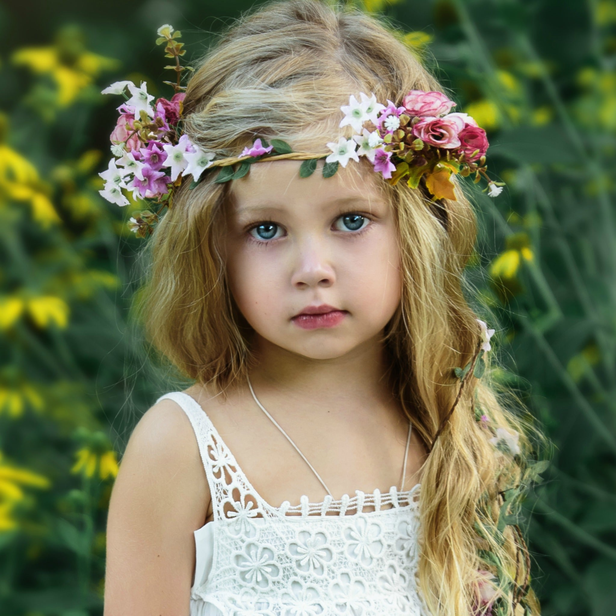 Flower girl flower crown gallery flower wallpaper hd crown for flower girl choice image flower wallpaper hd silk flower crown fleur and lace boutique izmirmasajfo