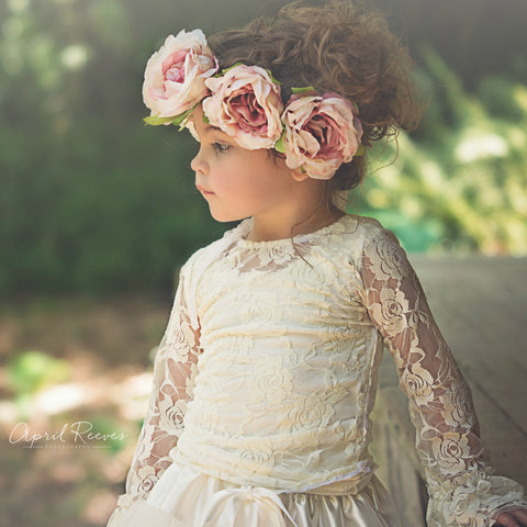 girls roses flower crown