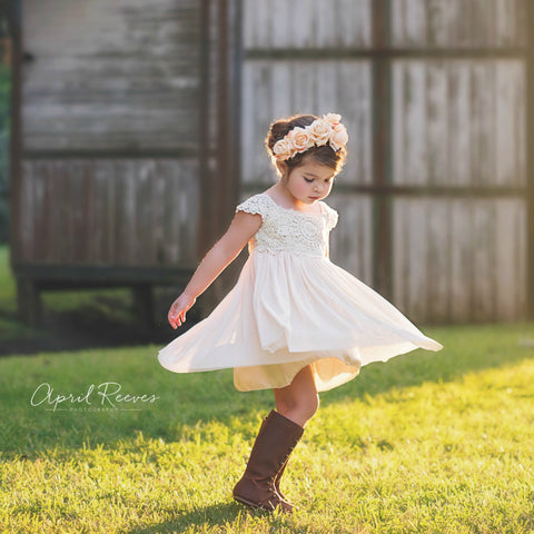 ivory toddler girl dresses