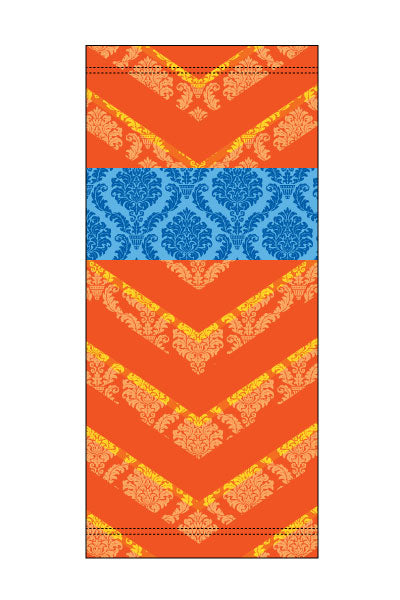 Damask Orange Neckie