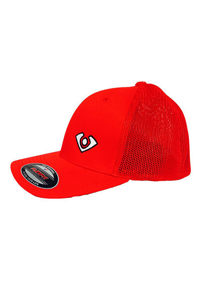 VC Fitted Meshback Red