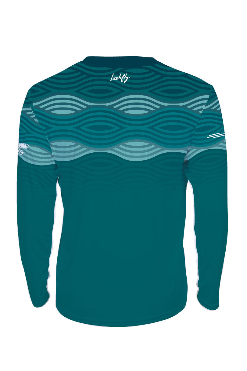 Windfarm 2020 Teal Long Sleeve