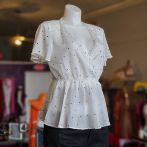 Dot Peplum Blouse