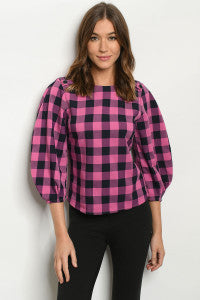 Checkerboard Blouse